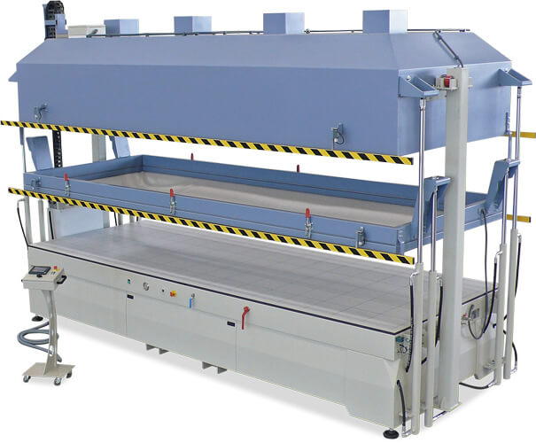 Sprinter vertical heated vacuum press
