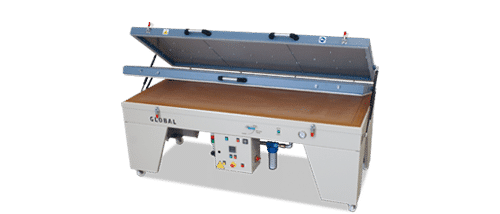 Sublimation heat vacuum press